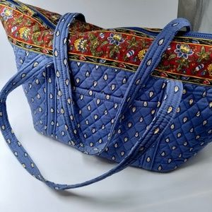 Vera Bradley French Blue Jumbo Paddy Bag Tote